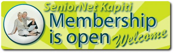 Click or Press and view our SeniorNet Kapiti Membership page ☛ Welcome