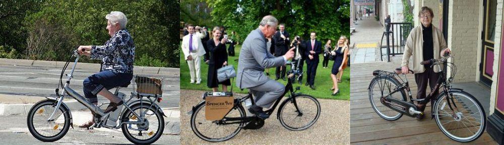 Prince Charles on el bike