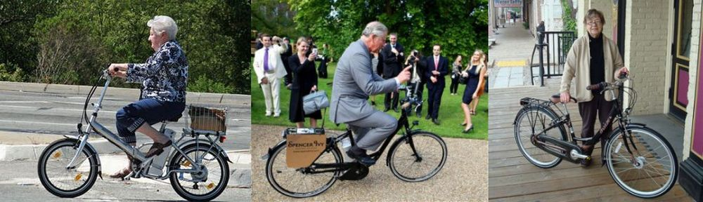 Prince Charles on el bike