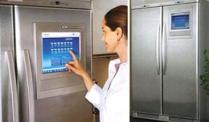 Fridge with screen