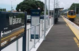 Matenga Train Leaves Waikanae Station