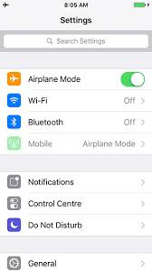 Settings iOS