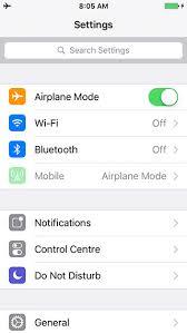Settings iOS