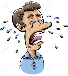 Crying Man Cartoon