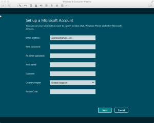 Setup MS Account