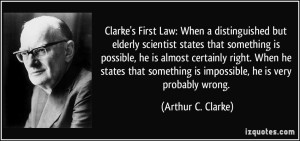 clarke-s-first-law