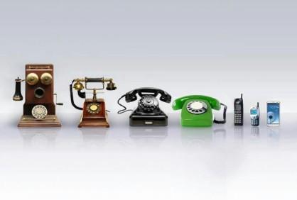 phones thru the ages